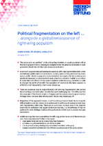 Political fragmentation on the left ... alongside a global renaissance of right-wing populism